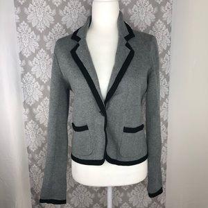 LOFT Ann Taylor grey sweater blazer